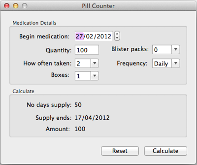 Pill counter icon